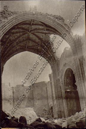 Santuario de la Virgen en Campo de Criptana, destruido por los revolucionarios en agosto de 1936. Causa General, legajo 1307, exp. 7, folio 22.