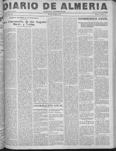 Diario de Almería, 21 de marzo de 1934.