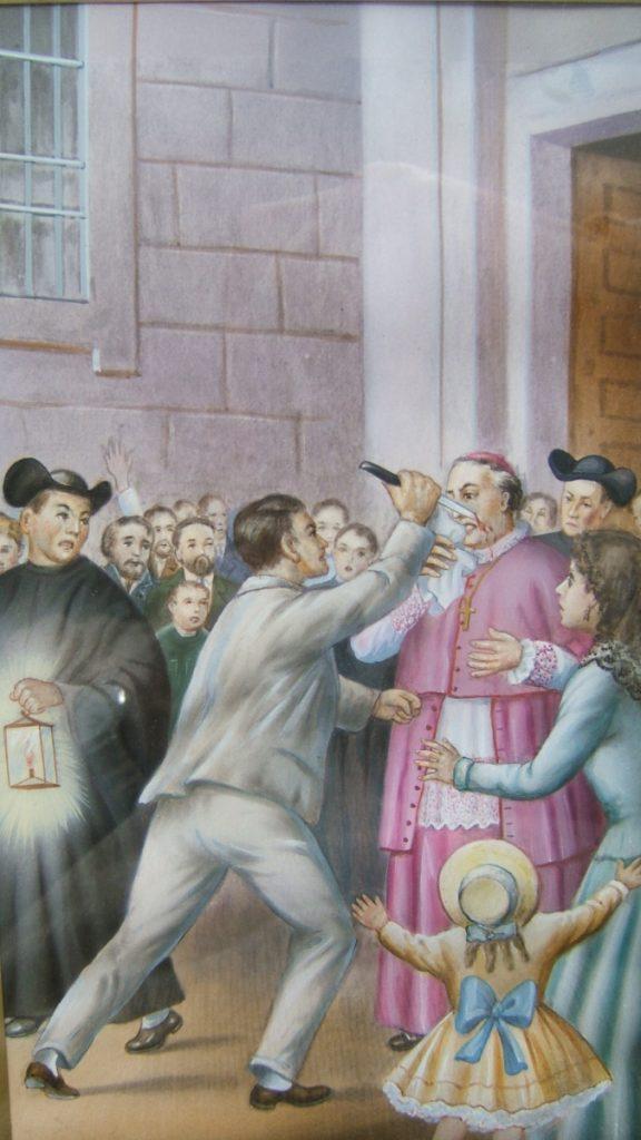 Atentado contra Claret en Holguín (Cuba) el 1 de febrero de 1856.