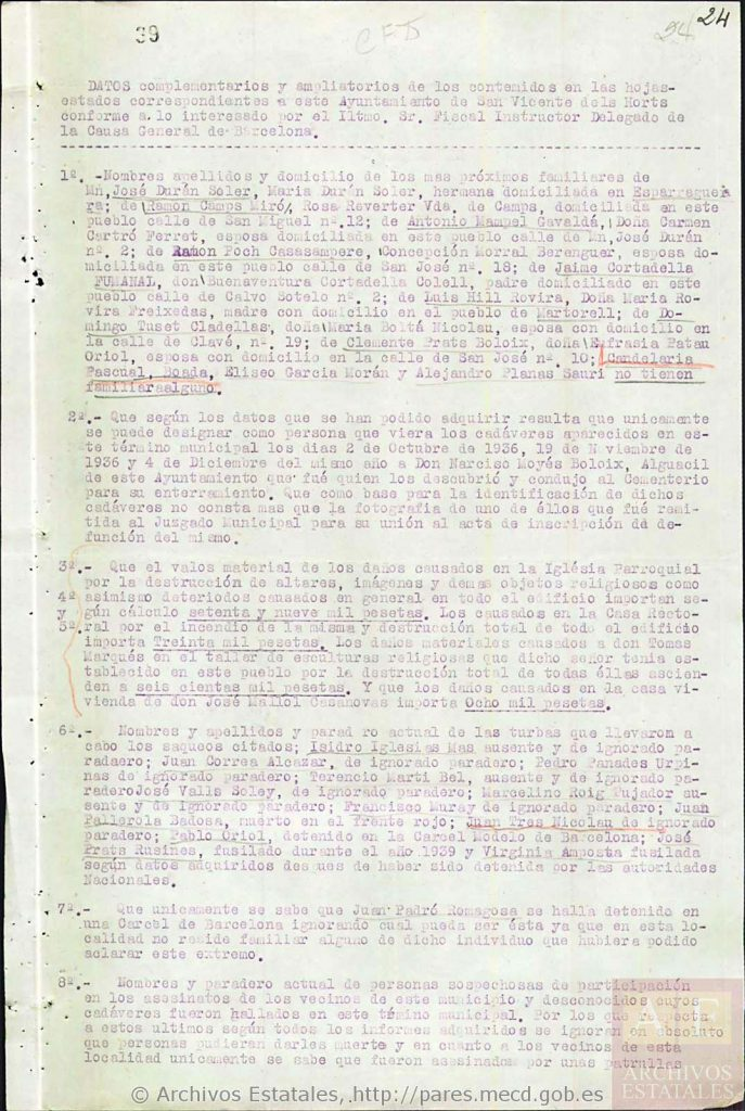 Folio 39, adjudicando un segundo apellido incorrecto al beato Eliseo García.