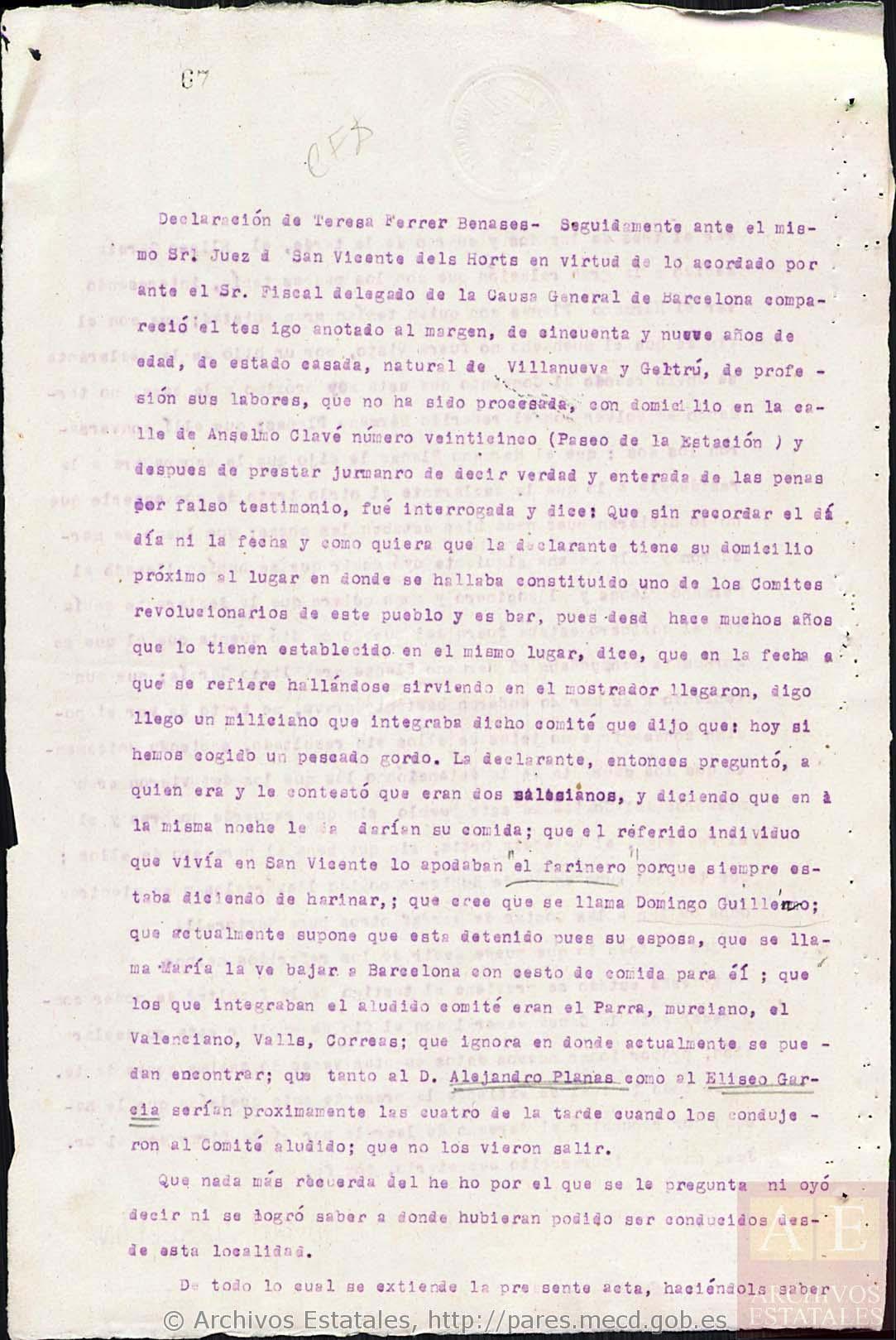El salesiano mártir por llevar la Comunión a un compañero sordo El salesiano Eliseo García, que ya tenía un hermano mártir, fue asesinado junto con un colaborador laico al que llevaba la Comunión
