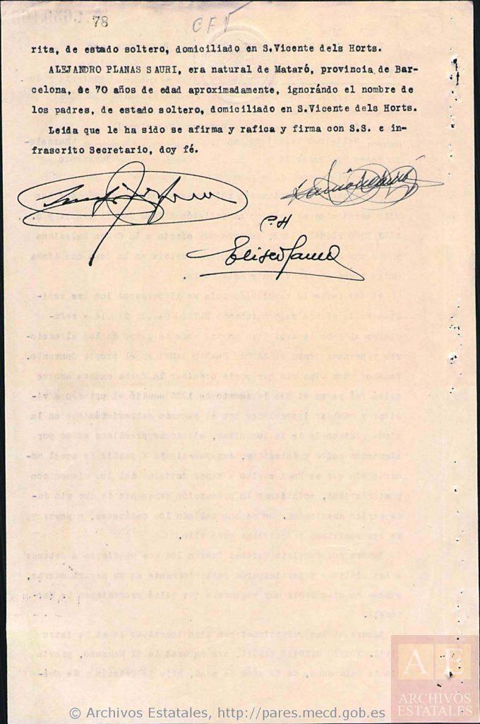 Declaración de Ramón Cambó (final).
