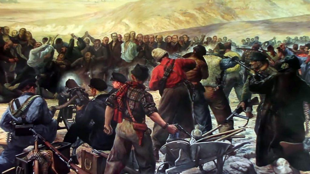 Copia del cuadro de cuadro de Mariano Yzquierdo y Vivas existente en la capilla del Cementerio de los Mártires de Paracuellos.