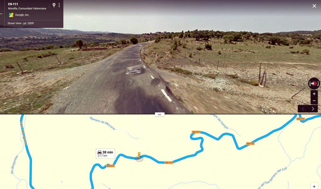 El Coll, en el km 1,5 de la CV-111.