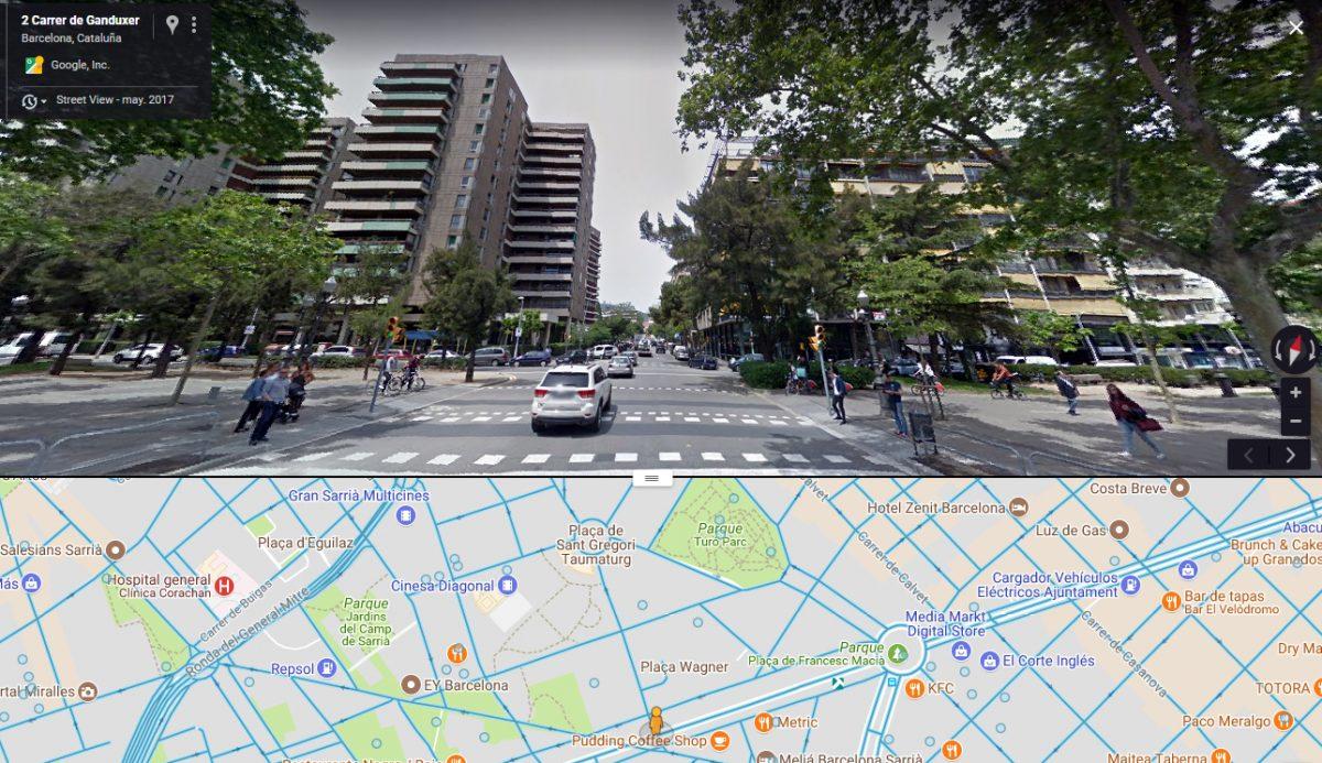 La calle Ganduxer, donde mataron al beato Joan Ceró, arranca como perpendicular a la Diagonal de Barcelona.