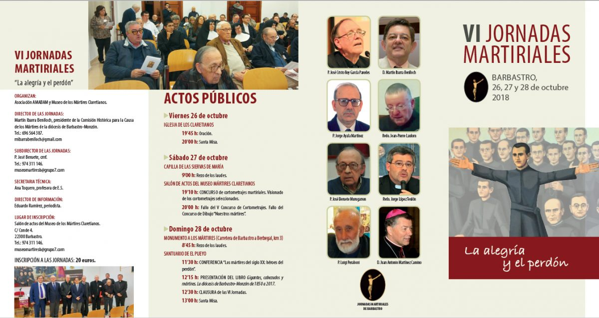 VI Jornadas Martiriales de Barbastro, 2018.