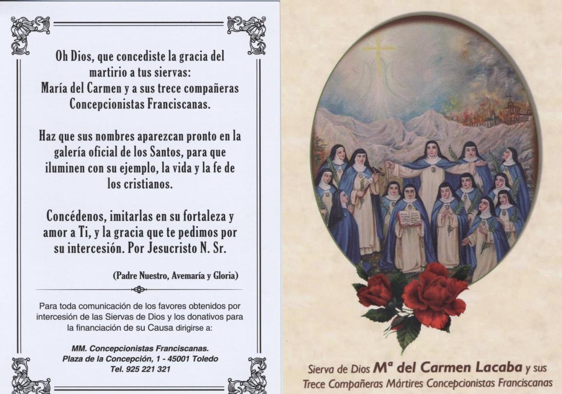 14 nuevas mártires concepcionistas franciscanas