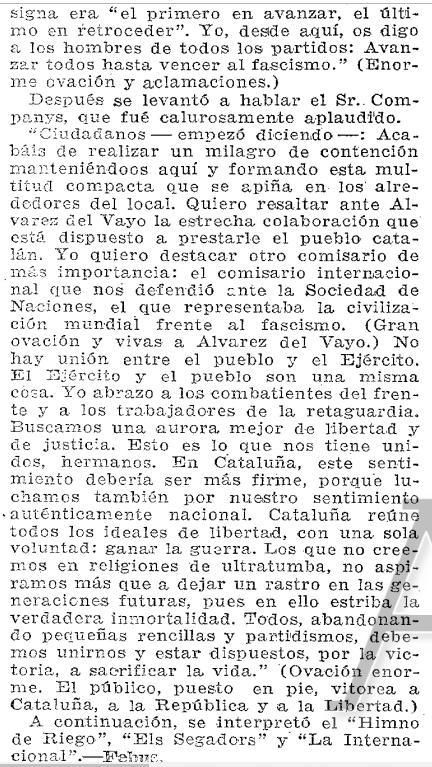 Discurso de Companys (ABC, 7 de julio de 1937, p. 6).