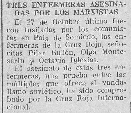 Noticia en El Adelanto de Salamanca, 17 de febrero de 1937, p. 1.