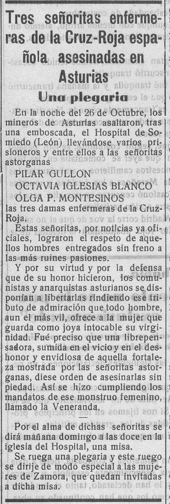 Noticia en Imperio (Zamora), 20 de febrero de 1937, p. 3.