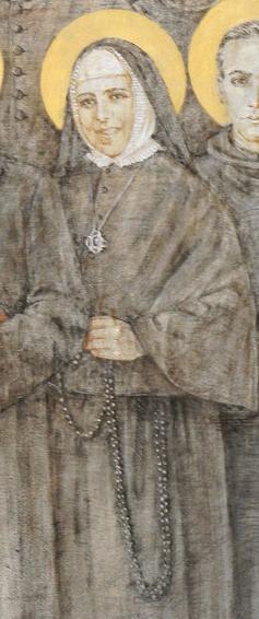Beata Ginard en el icono de mártires del siglo XX en Madrid.
