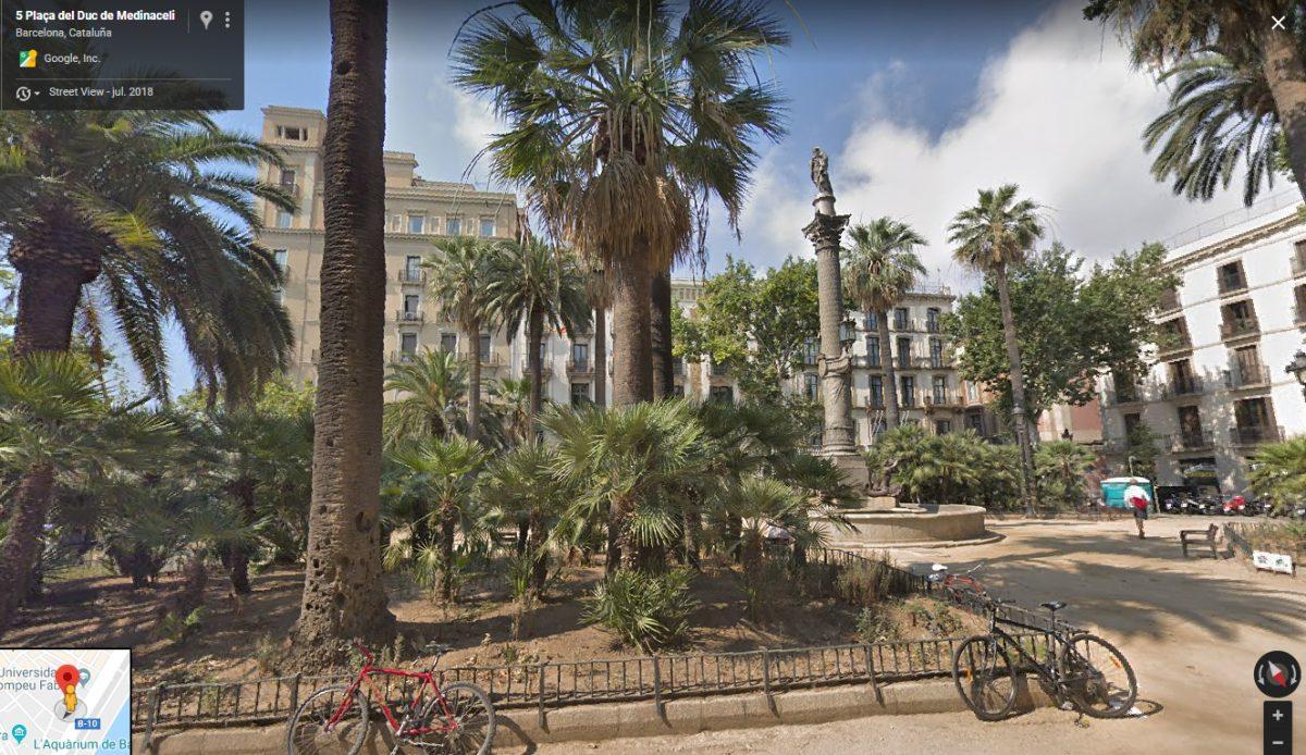 Plaza de Barcelona, donde fue detenido el beato Pedro Verdaguer.