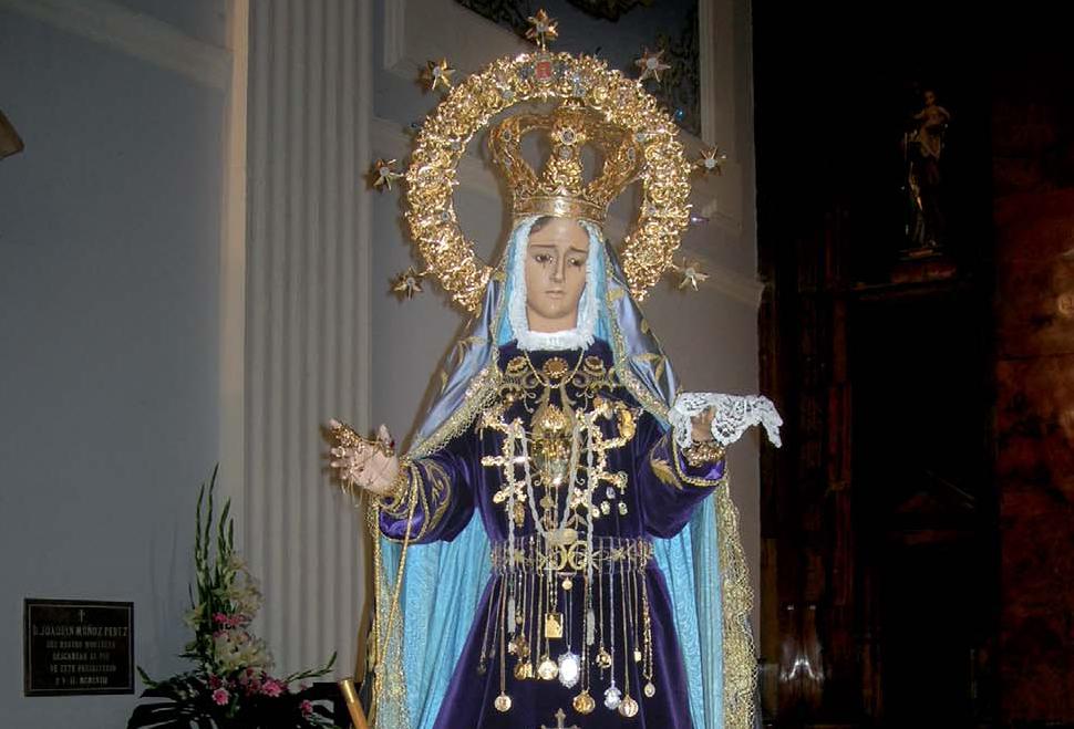 La Virgen de los Dolores, patrona de Turís.