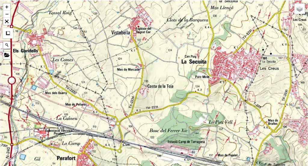 La Guineu, antes de llegar a Tarragona.