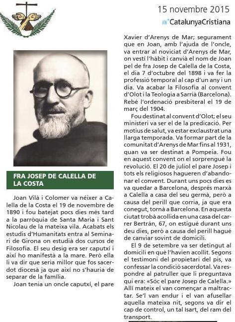 Beato Josep de Calella.
