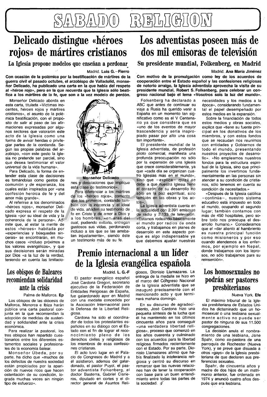 José Delicado y la beatificación de 1992.