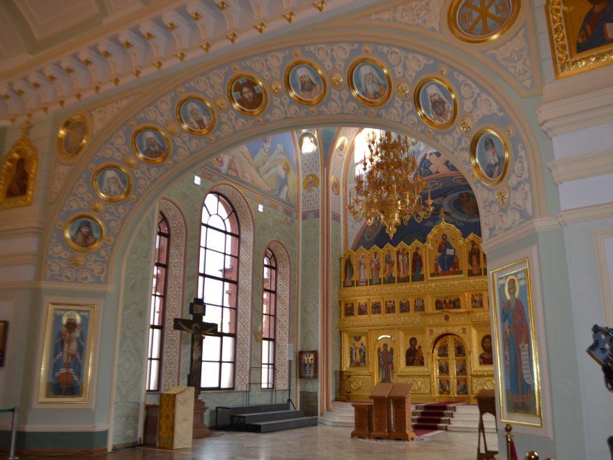 Iglesia en el Palacio Sinodal del Patriarcado de Moscú.