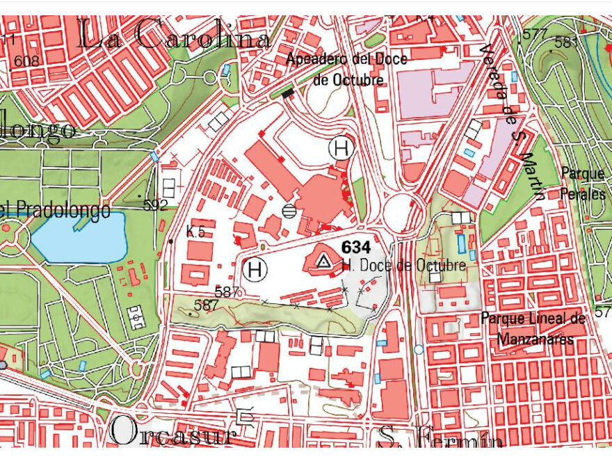 Mapa de Villaverde (Madrid)